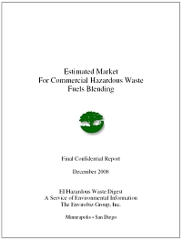 Cover - EI Digest - Hazardous Waste Fuels Blending